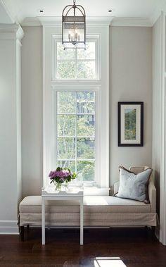 Nine Fabulous Benjamin Moore Warm Gray Paint Colors - laurel home   interior design by James Thomas   fabulous architectural detailing   mouldings   warm gray paint color