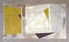 Abstract in Ben Nicholson style, Oil on canvas 162cm x 100cm by Timna Woollard
