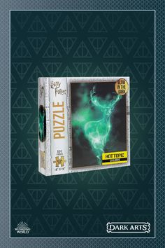 Form positive memories together by building this Patronus themed puzzle. Harry Potter Expecto Patronum, Tom Feltom, Harry Potter Halloween, Halloween Night, Hogwarts, The Darkest, Glow, Puzzle, Memories