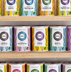 How to brand yourself and your product: use hand-drawn patterns that make yours stand out on the shelf.   This not only helps a consumer become attracted to your product, but also initiates a store owner to display your product.