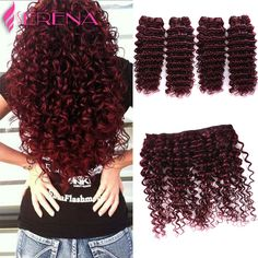 Hair Extensions & Wigs Hair Weaves March Queen #99j Indian Curly Hair 3 Bundles Red Wine Color Human Hair Weave None Remy Curl Hair Extensions Double Weft Bright Luster
