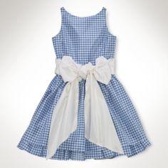 Silk Gingham Dress - Girls 7-16 Dresses & Rompers - RalphLauren.com