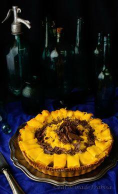 La cocina de Frabisa: Tarta de chocolate y Mango Fresco. Receta para Triunfar