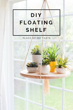 Hang a floating shelf in your kitchen or living room for a cool and simple decoration. Get the tutorial at Place of my Taste.