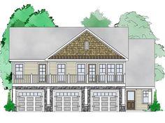 Carriage house plans, commonly referred to as garage apartments, feature car storage with living quarters above. Browse this collection of top-selling carriage homes. Garage Apartment Plans, Garage Apartments, Garage Plans, Garage Ideas, Small House Plans, House Floor Plans, Carriage House Plans, Garage Addition, Garage House