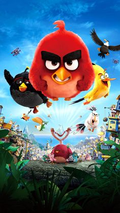 """Wallpaper for """"The Angry Birds Movie"""" Angry Birds 2 Movie, Angry Birds Characters, Angry Birds 2016, Bird Wallpaper, Cartoon Wallpaper, Movie Wallpapers, Cute Wallpapers, Angry Wallpapers, Angry Brids"""
