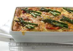 Curried Ham & Asparagus Strata: great Easter Brunch idea via Kitchen Conoisseur
