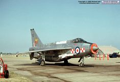 English Electric Lightning F.6 XS897 in the static at RAF Lakenheath's airshow of 1975.