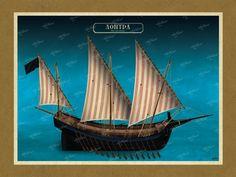 ΛΟΝΤΡΑ Όλες οι εικονογραφήσεις είναι από το βιβλίο της ΑΡΤΕΟΝ ΕΚΔΟΤΙΚΗΣ: Πειρατικά και κουρσάρικα σκαριά των θαλασσών μας. 18ος-19ος αιώνας. Ένα ταξίδι στον κόσμο των πειρατικών και κουρσάρικων σκαριών και στη ζωή των προγόνων μας. www.e-arteon.gr Sailing Ships, Boat, Dinghy, Boats, Sailboat, Tall Ships, Ship