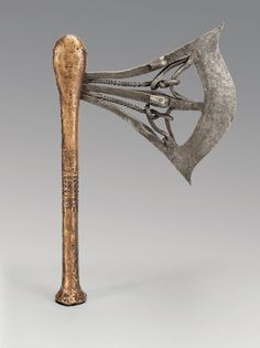 In many areas of Central and Western Africa, axes symbolized the power of the ruler. This elaborate ornamental weapon was produced by the Songye, probably ... Congo, Axe, Weapons, Africa, Museum, Ruler, Google, Weapons Guns, Guns