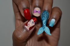 submitted by rillwatermist like these nails? GO VOTE Mermaid Nail Art, Beauty, Beauty Illustration