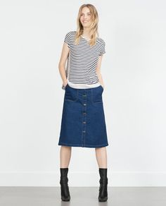 ZARA - WOMAN - STRIPED T-SHIRT