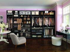 contemporary closet Dressing Room