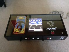 Picture of Raspberry Pi Coffee Table Arcade Coffee Table Arcade, Arcade Table, Ikea Coffee Table, Pi Arcade, Arcade Stick, Arcade Games, Arduino Projects, Electronics Projects, Electrical Projects