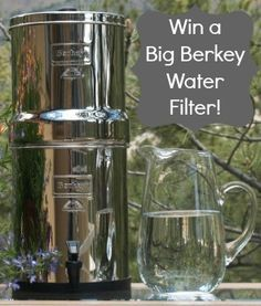 Would love one of these!  Big Berkey Water Filter Review and Giveaway - Imperfect Homemaker