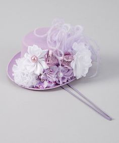 Love this My Sunshine Shoppe Lavender Sequin Bow Top Hat Headband by My Sunshine Shoppe on #zulily! #zulilyfinds