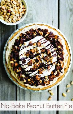 No Bake Peanut Butter Pie Recipe - Super easy and that makes a WOW of a statement.