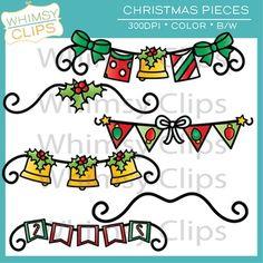 Christmas Pieces Clip Art Freebie