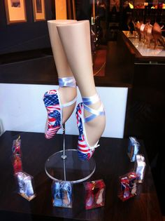 Freed of London's promotional pointe shoes to mark Boston Ballet's London tour.