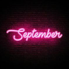 Neon Glow September Month Text Effect Pink Neon Wallpaper, Look Wallpaper, Aesthetic Iphone Wallpaper, Aesthetic Wallpapers, September Wallpaper, Neon Rosa, Small Business Quotes, Light Quotes, Glow Effect