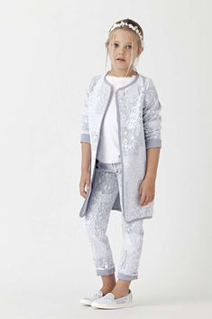 Enter the official website Ermanno Scervino. Kids Outfits Girls, Girls Fashion Clothes, Baby Boy Fashion, Little Girl Dresses, Fashion Kids, Girl Outfits, Kid Styles, Kind Mode, Ermanno Scervino