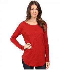 Mod-o-doc - Slub Jersey Long Sleeve Rib Inset Tee (Chicory) Women's T Shirt