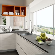 Cucina Moderna - Round Finitura petrolio http://www.arredo3.it ...