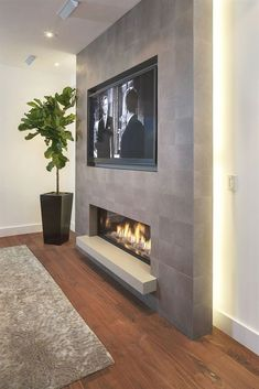 Living Room Tv Wall Decor Ideas Fire Places 40 Ideas For 2019 Living Room Decor Fireplace, Fireplace Tv Wall, Basement Fireplace, Fireplace Remodel, Living Room Tv, Fireplace Design, Tv Wall Ideas Living Room, Fireplace Ideas, Stone Wall Living Room