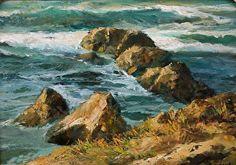 Along the Laguna Shore: Time Revealed by Gil Dellinger Oil ~ 12 x 16