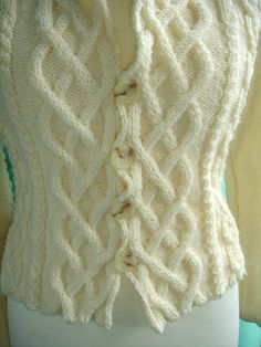 Reserved for nicolabird123 Custom cabled knit cardigan by CatWalk7