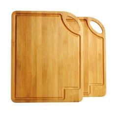 Natural Bamboo Wood 2 Piece Cutting Chopping Board Set - Buy Cutting Chopping Board Set Product on Alibaba.com