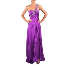 DFI Women's Jewel Embellished One-shoulder Evening Gown