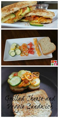 Grilled Cheese and Veggie Sandwich Recipe on Having Fun Saving and Cooking.