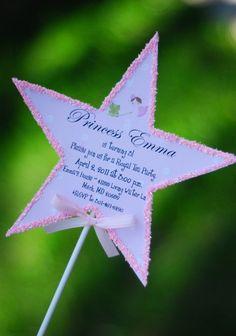 Princess Wand Birthday Tea Party Invitation via Etsy