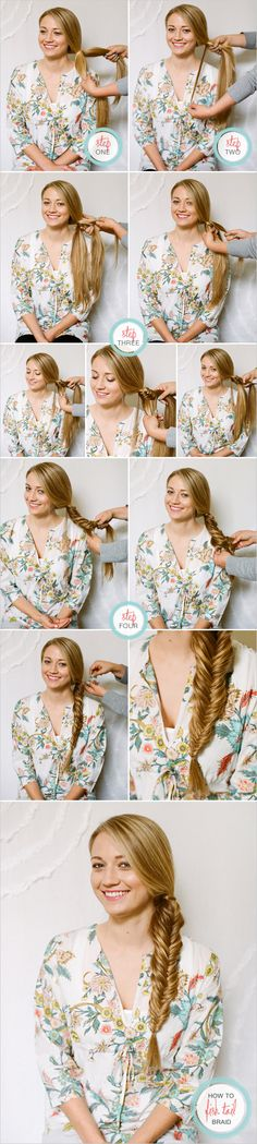 step by step long hair braids | How to Do Fishtail Braids Step by Step