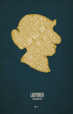 Labyrinth minimal poster / Hoggle