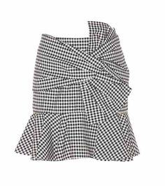 Picnic Bow plaid cotton skirt   Veronica Beard