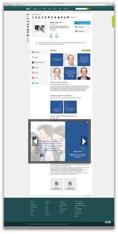 Grafische Ausarbeitung des XING Portfolio für einen Premium Account. Jürgen Baier
