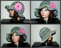 free women's sunhat pattern, http://crochetjewel.com/?p=3107