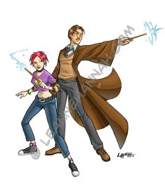 Nymphadora Tonks and Remus Lupin from the Harry Potter series. I finally finished reading the entire lot of books a couple weeks ago, and these two emerged as my favorite characters (which I found ...