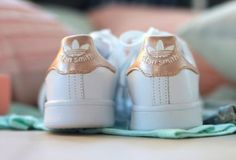 shoes rose gold adidas adidas shoes tumblr cool fashion toast fashion adidas superstars stan smith