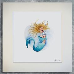 Jpg, Limited Edition Prints, Colored Pencils, Watercolor Tattoo, Illustration Art, Mermaid, Beautiful, Colouring Pencils, Watercolour Tattoos