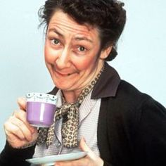 "Ani & Will on Instagram: ""Pauline McLynn who played the tea-loving Mrs Doyle in Father Ted. #tea #teaparty #teaculture #lovetea #PaulineMcLynn"""