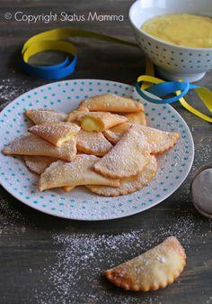 Ravioli dolci alla crema ricetta dolce facile economica per bambini feste buffet carnevale Statusmamma Giallozafferano video tutorial