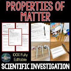 Properties of Matter - Scientific Investigation by The Science Duo Chemistry Lessons, Science Lessons, Science Activities, Claim Evidence Reasoning, Physical And Chemical Properties, Properties Of Matter, Essential Questions, Formative Assessment, Background Information