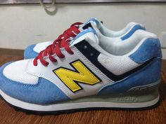 Women New Balance 574 NB574 Shoes US574S Nubuck DORAEMON A Blue white|only US$55.00 - follow me to pick up couopons.