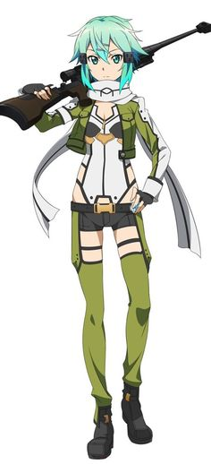 Sword Art Online, Sinon, official art