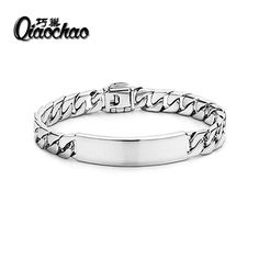 52841f55c 10MM Chain Bracelets for men wholesale 925 sterling silver bracelets bangle  fashion silver jewelry silver 925
