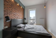 Find Industrial Style Bedroom Red Brick Wall stock images and royalty free photos in HD. Brick Wall Bedroom, Bedroom Red, Bedroom Photos, Bedroom Ideas, Master Bedrooms, Industrial Style Bedroom, Design Industrial, Smart Home Design, Red Brick Walls