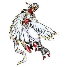 Harpymon - Hawkmon Armor Digivolution through the Digi-Egg of Light